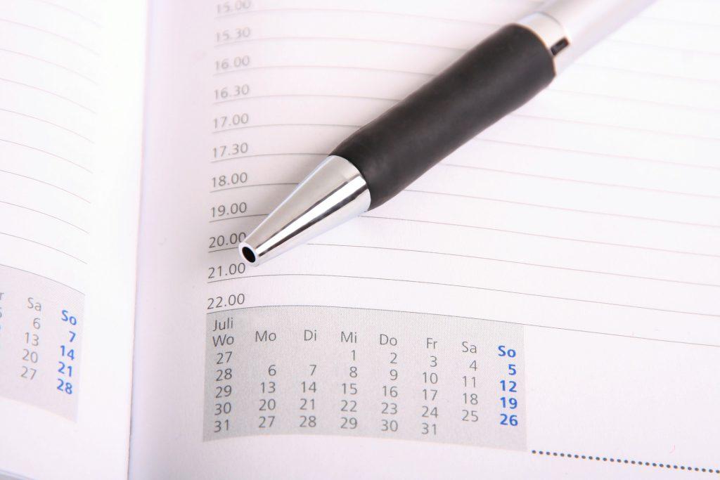 időbeosztás naptár